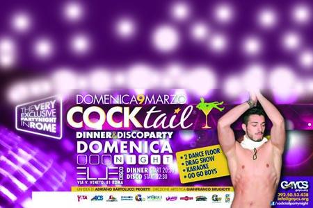 Roma, anche domenica 9 marzo torna Cocktail: la domenica di Gaycs