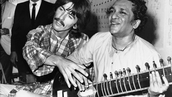 George Harrison and his musical mentor Ravi Shankar in 1967AP