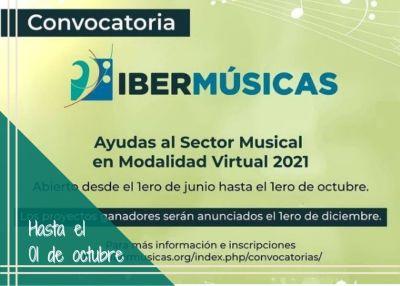 Convocatoria Ibermusicas al Sector Musical Virtual