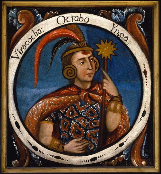 Viracocha, el octavo Inca. Óleo sobre lienzo 1750-1800 (Fuente: Brooklyn Museum).