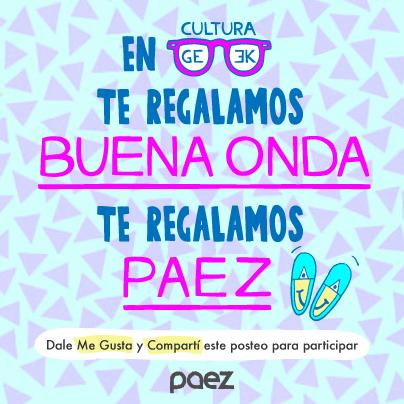 Sorteo Paez culturageekradio.com