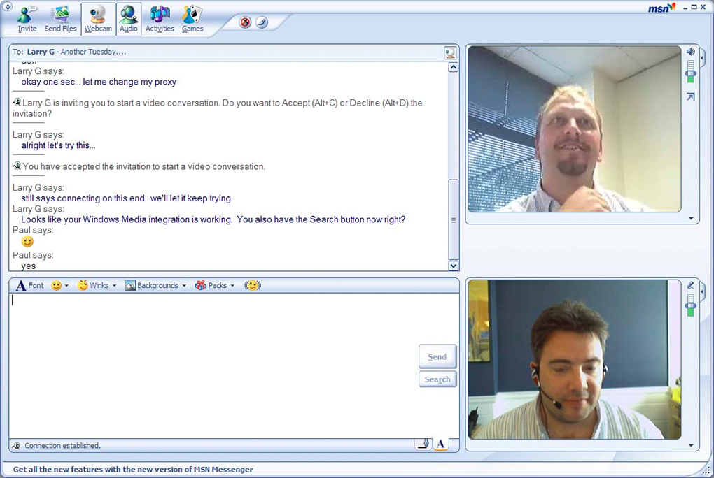 webcam Msn messenger