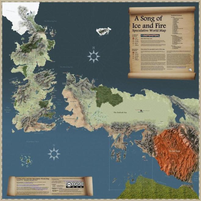 Cultura Geek Game of Thrones Mapa Westeros