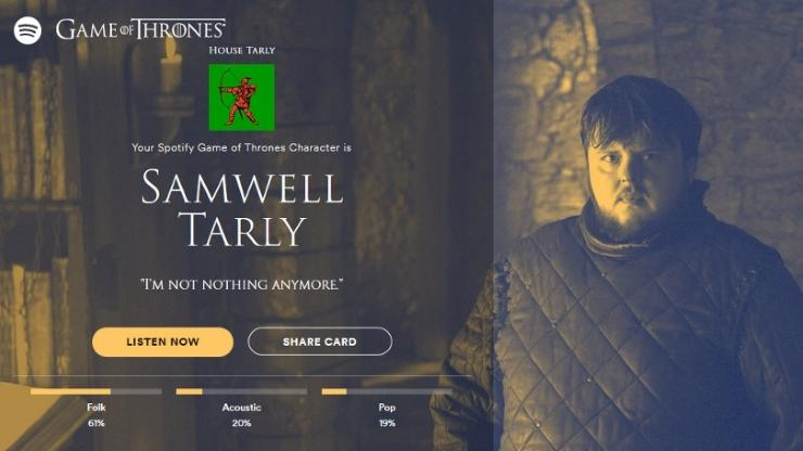 Game of Thrones Cultura Geek GOT Spotify