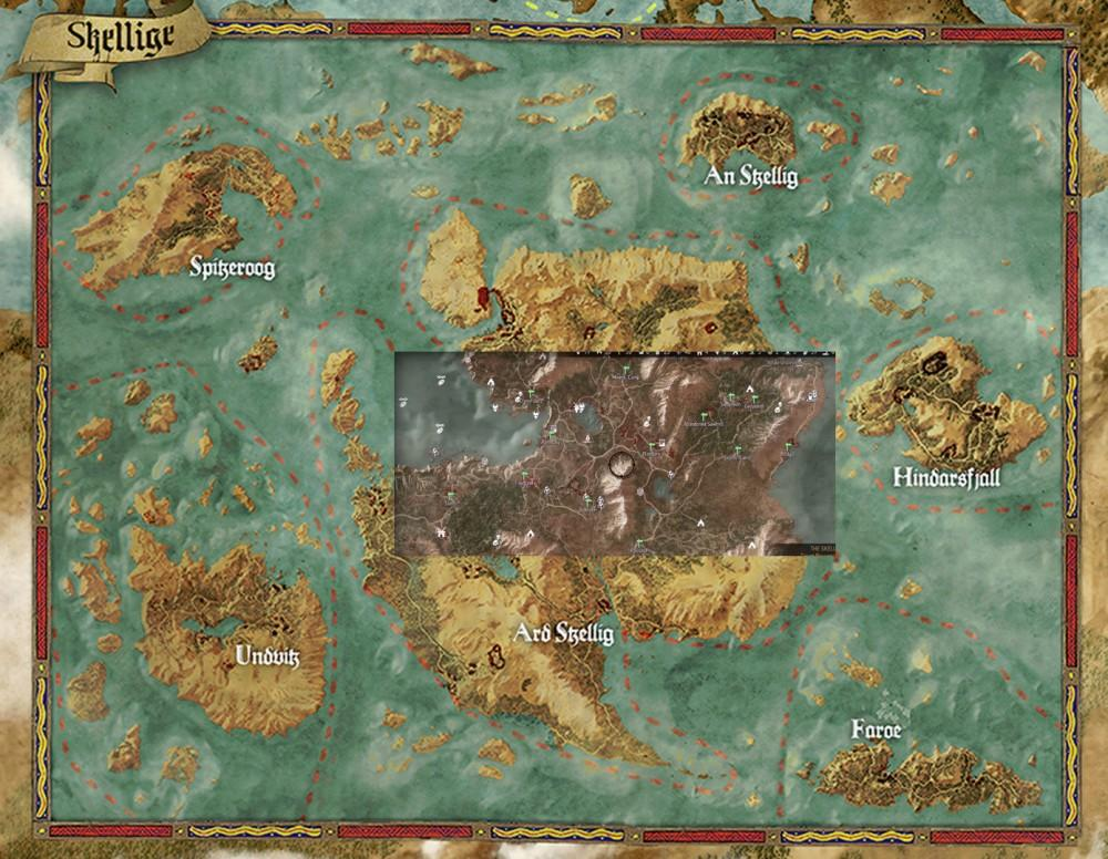 Cultura Geek Witcher 3 Blood and Wine Mapa 2