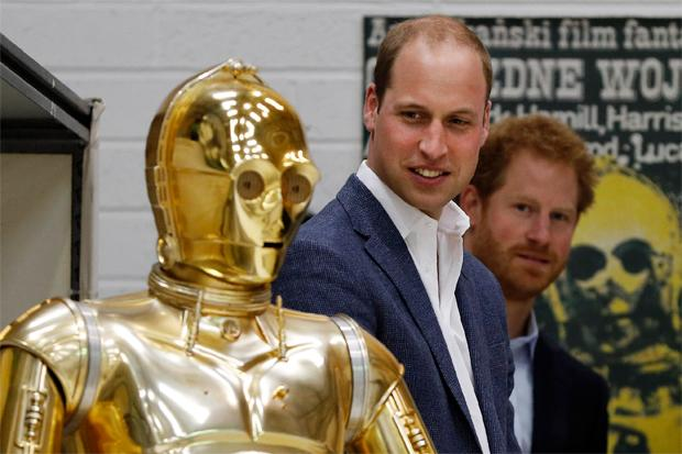 Star Wars episodio 8 harry y william