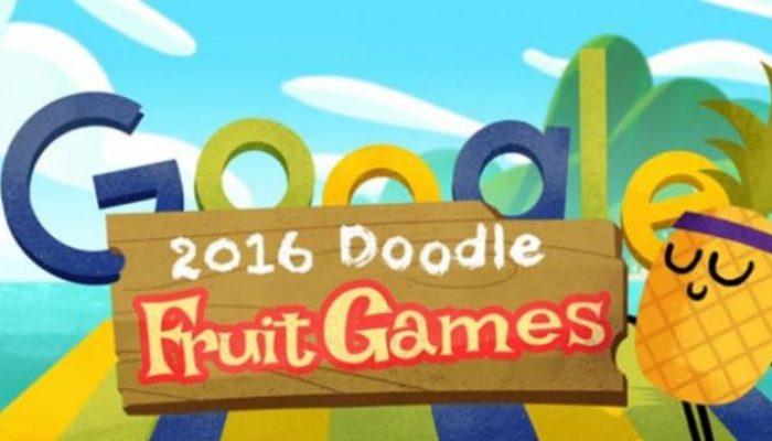 Cultura Geek Google Doodle Fruit Games 2016