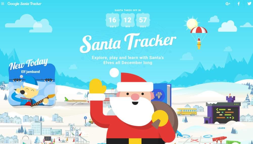 Rastreador de Santa Claus Tags