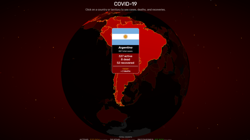 COVIDVISUALIZER argentina www.culturageek.com.ar