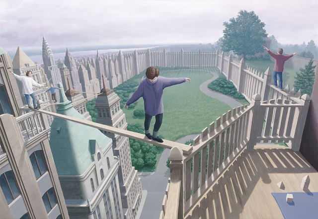 Rob Gonsalves pintura ilusion optica surrealismo 17
