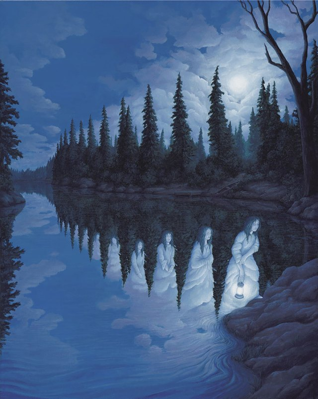 Rob Gonsalves pintura ilusion optica surrealismo 25