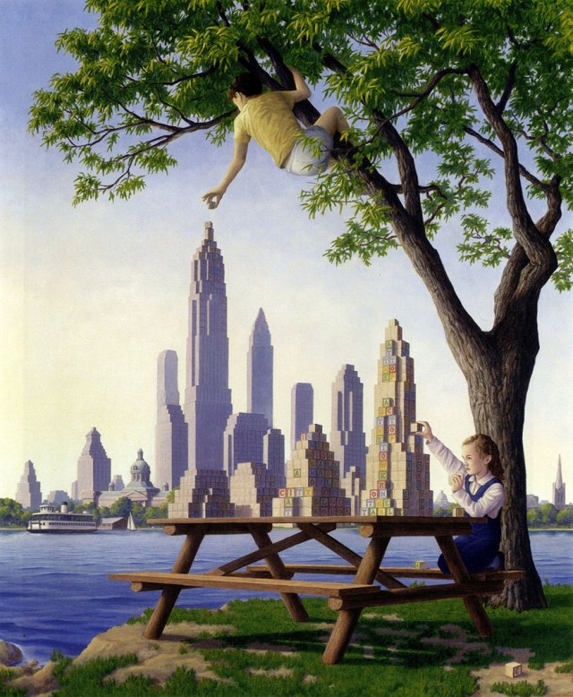 Rob Gonsalves pintura ilusion optica surrealismo 7