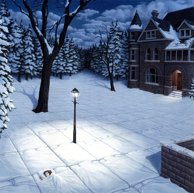 Rob Gonsalves pintura ilusion optica surrealismo 9