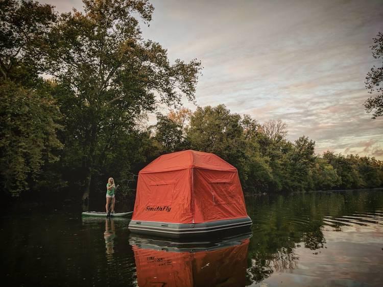 Smithfly cama casa tienda agua flotante 7