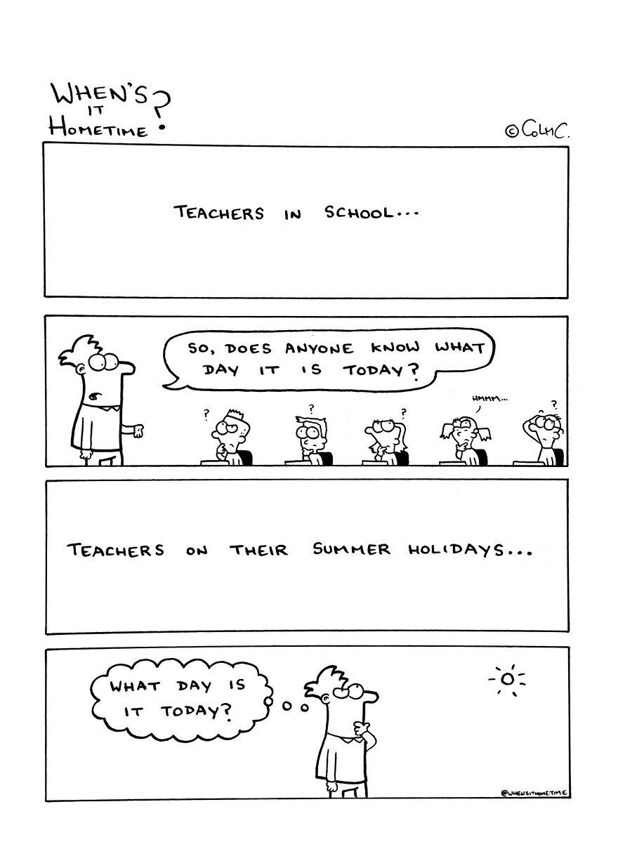 Whens it Hometime humor ilustracion clases 17