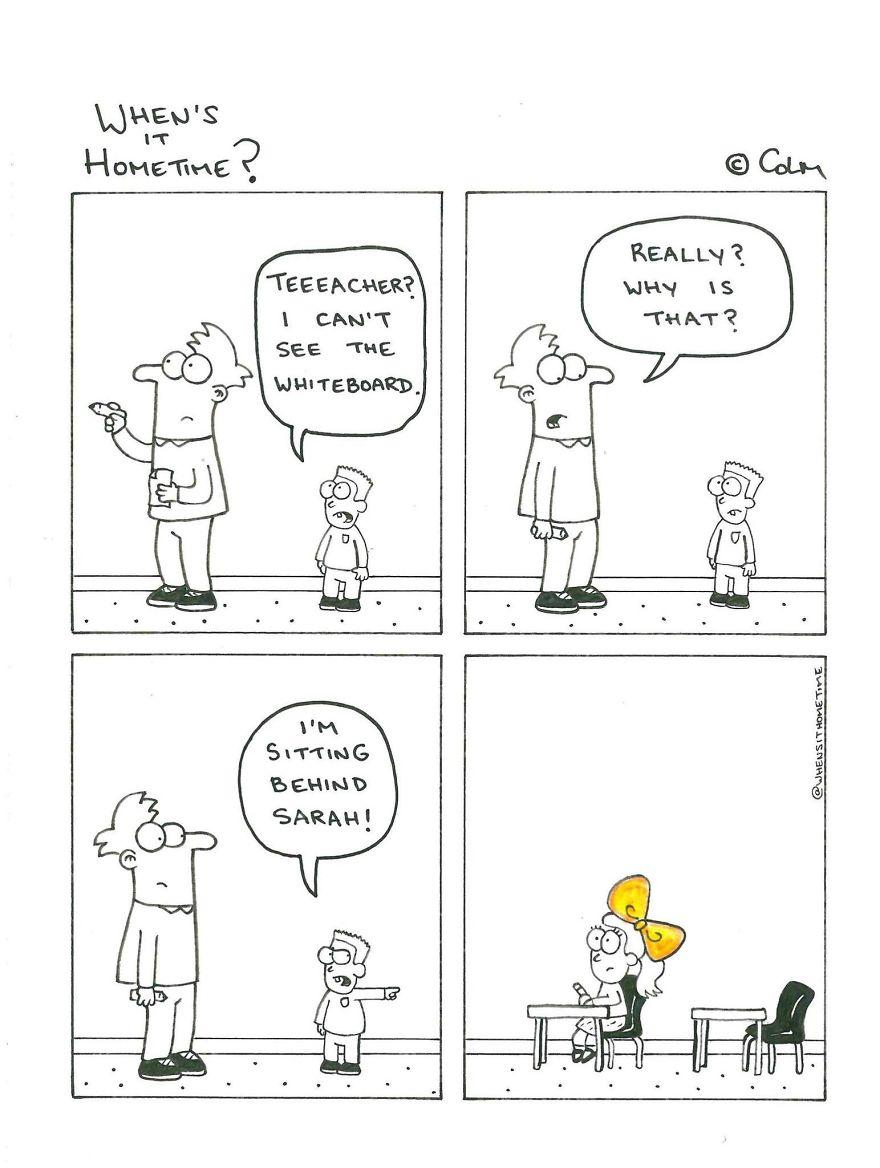 Whens it Hometime humor ilustracion clases 18