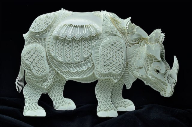 Patrick Cabral esculturas de papel 5