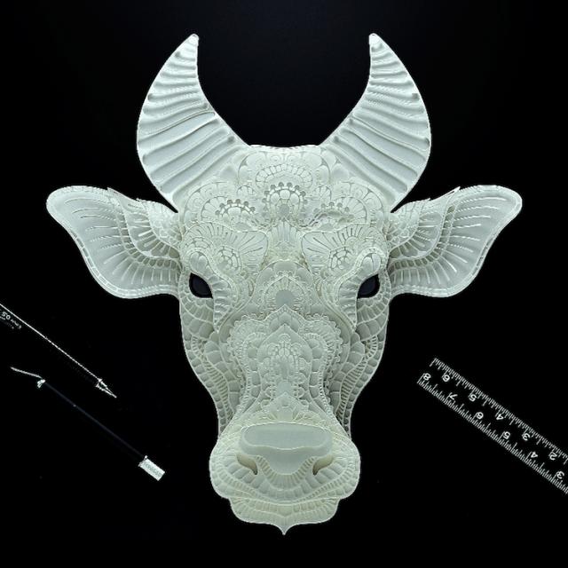 Patrick Cabral esculturas de papel 10