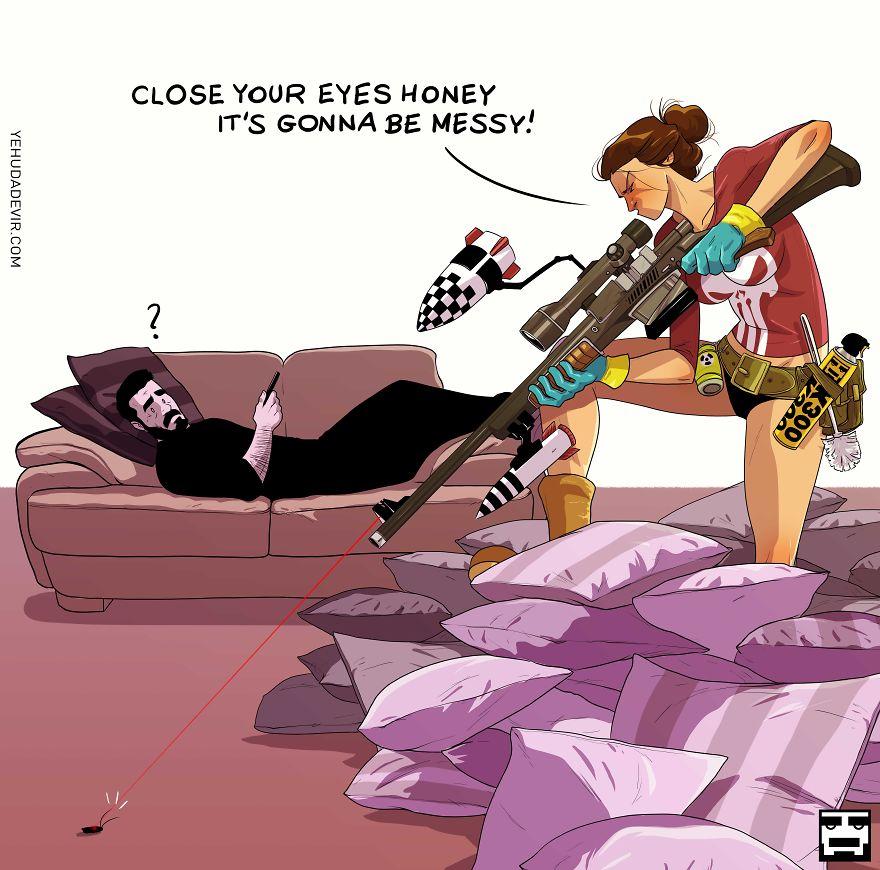 Yehuda Adi Devir simpaticas ilustraciones amor 6