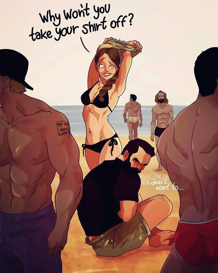 Yehuda Adi Devir simpaticas ilustraciones amor 8