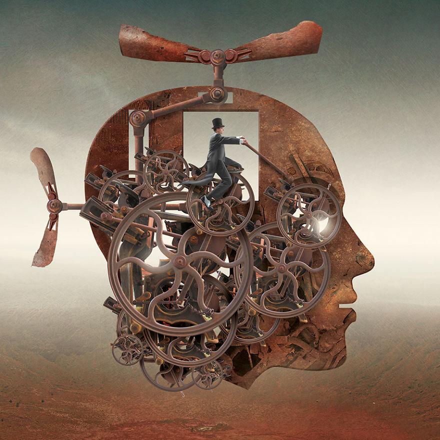 Igor Morski oscuras surrealistas ilustraciones 15