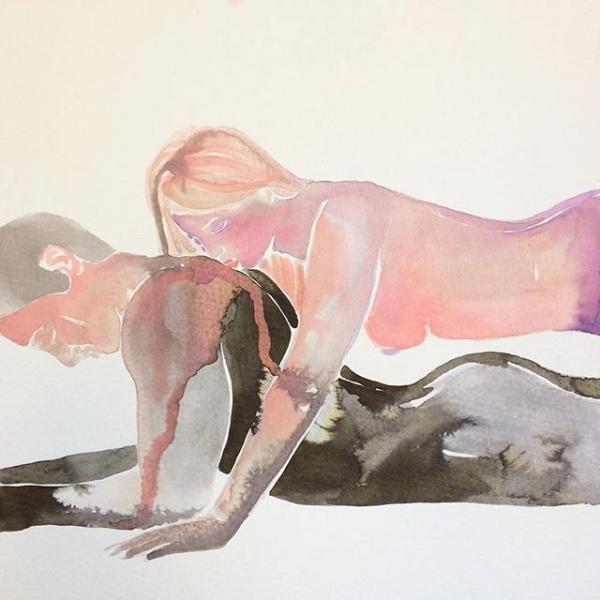 Make Love: las acuarelas eróticas de Tina Maria Elena