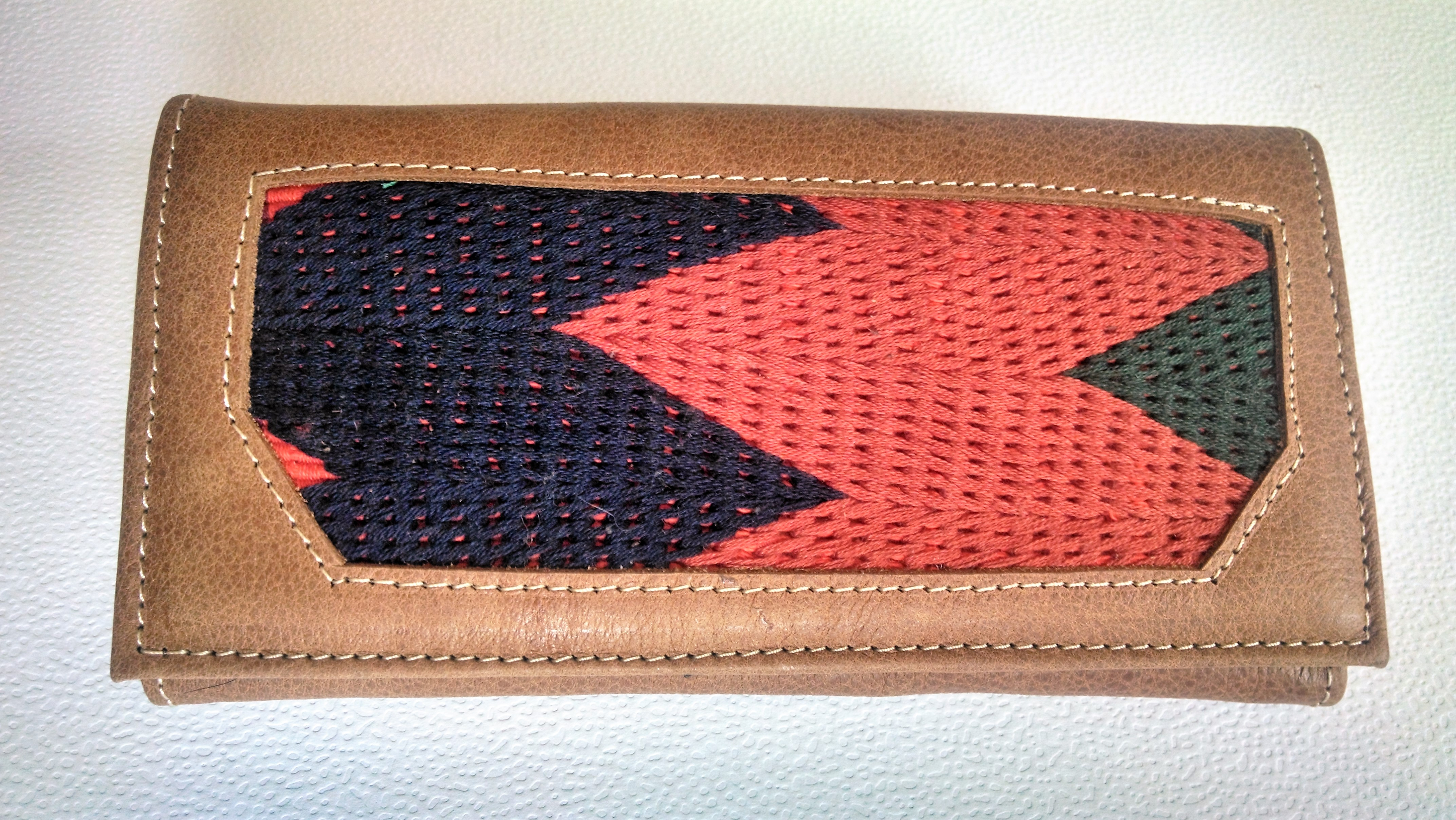 dfb5ae46a9 Oaxaca Embroidered Leather Wallet