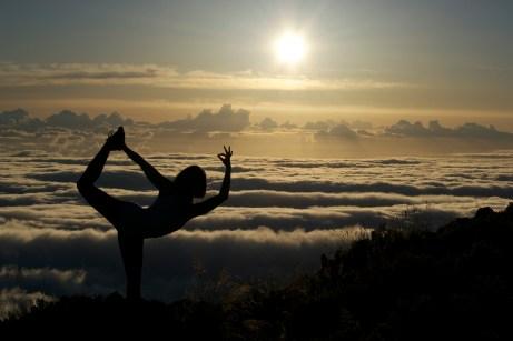 Dancer Atop the Clouds on Haleakala, Maui
