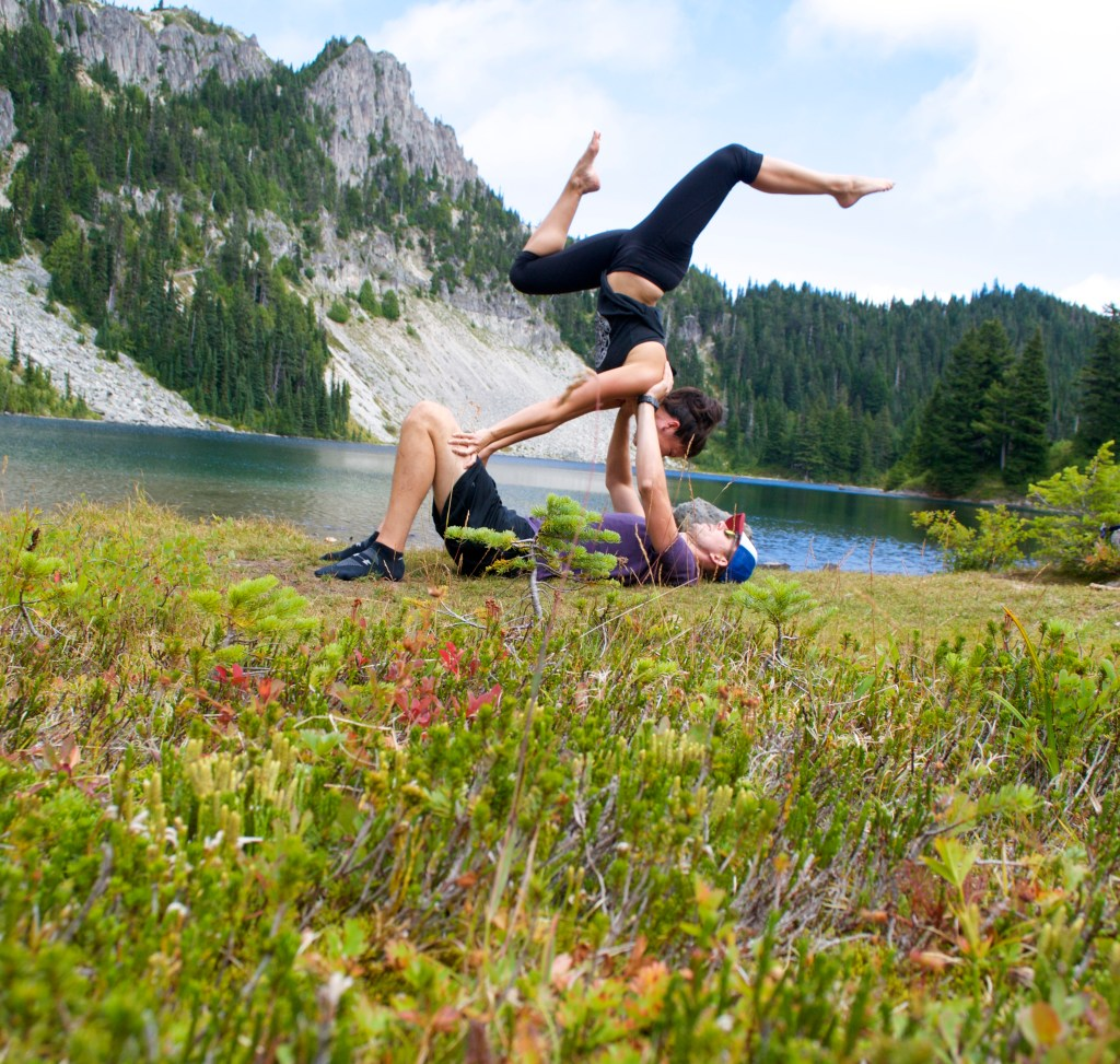 Acroyoga at Tolmie Peak - Mount Rainier National Park, Washington