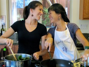 Cooking with my sweet Mamma. :-)
