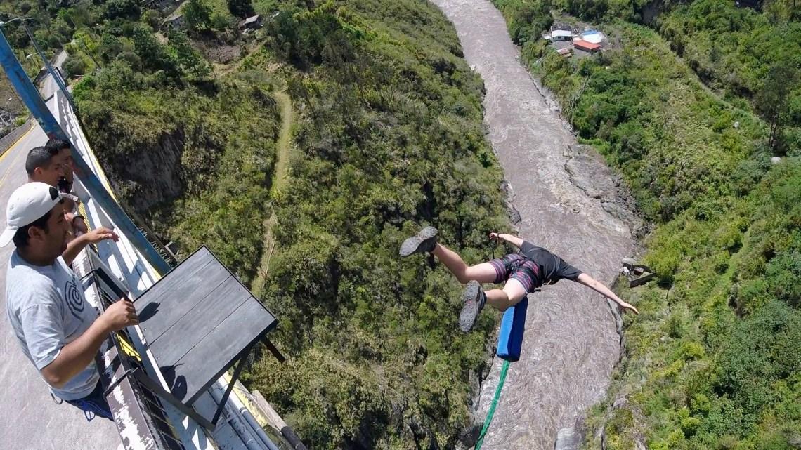 Bungee Jumping San Francisco Bridge Banos Ecuador