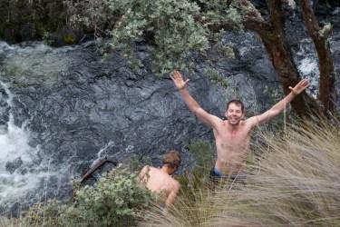 Sasha and Christian went swimming!