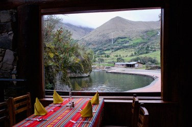 In the waters of the Andes, they specialize in Trucha (trout). This restaurant at the base of the mountains served an excellent almuerzo (lunch)