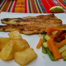 Typical Food in the Region of Cuenca Ecuador - Trout & Yuca