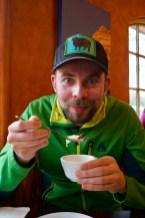 Sasha likes Tom Kha soup