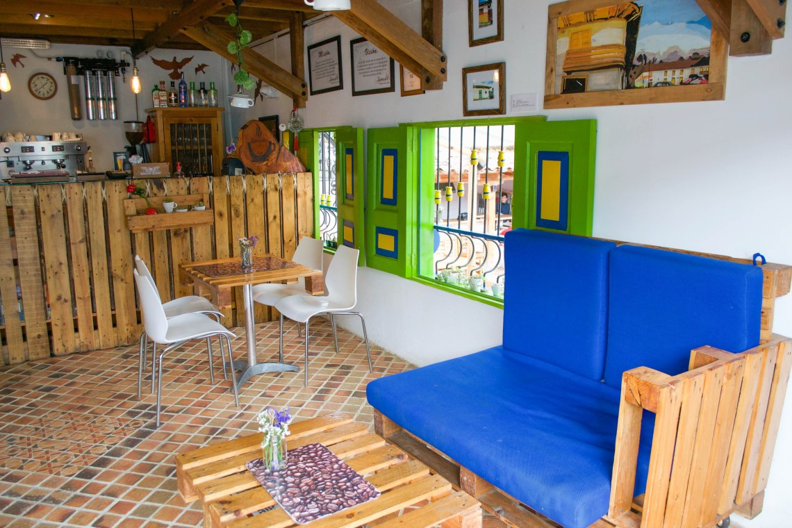 Interior of Bernabe Restaurant, Salento, Colombia