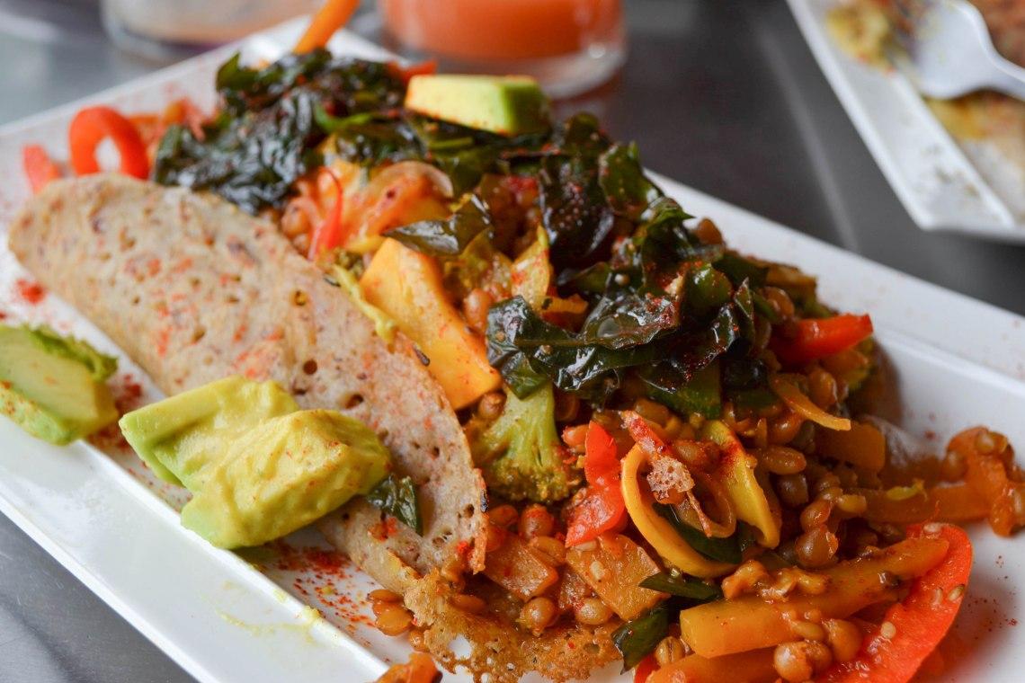 Namaste Cafe, Salento, Colombia - Vegetarian Crepe