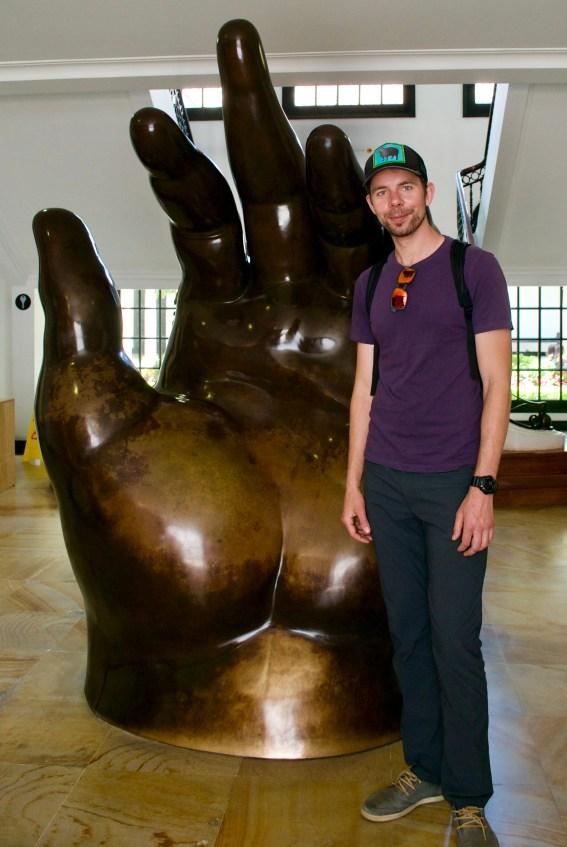 One of Fernando Botero's sculptures