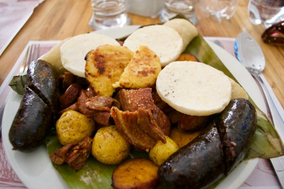 Meat and starch - total gut bomb