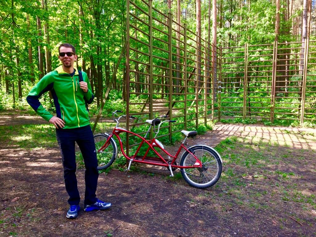 Tandem Bike in Sosnovka Park, Saint Petersburg, Russia