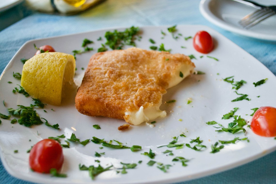 Fried Saganaki - Crete, Greece