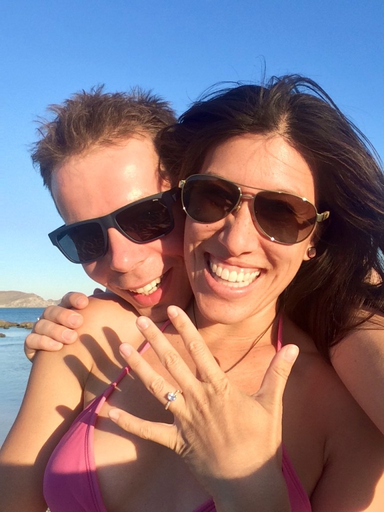 Engaged at Elafonissi Beach, Crete Island, Greece