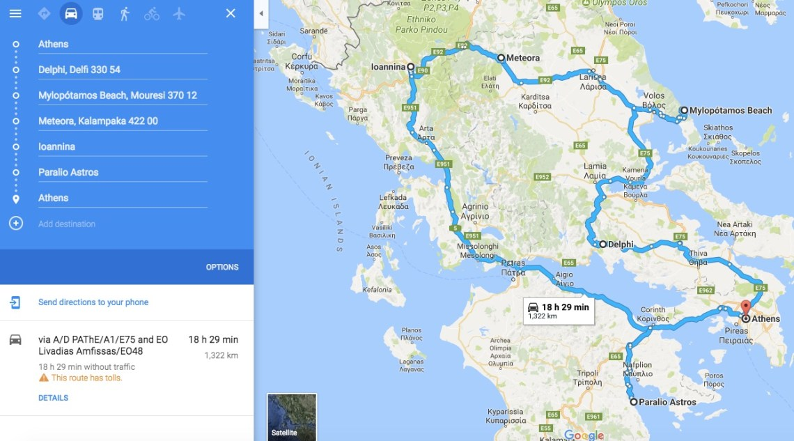 Mainland Greece Itinerary