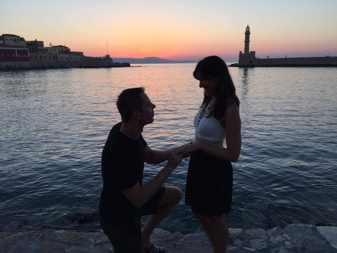Proposal - Engaged in Chania, Crete, Greece