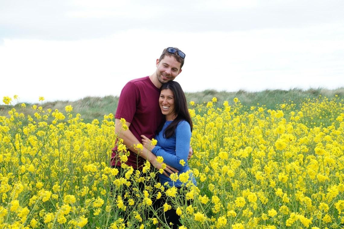 Flower Fields in Port Townsend, Washington State, USA