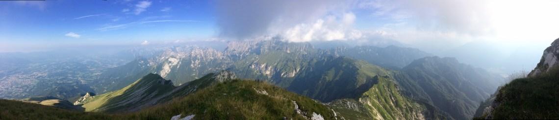 Monte Serva Hike Panorama, Dolomites, Italy