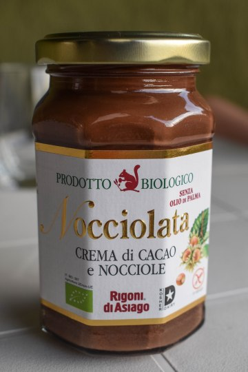 """THIS is the REAL """"Nutella"""". In Europe, the term """"biological"""" means organic/natural. This is a local product made with chocolate and hazelnuts NOT using palm oil. I implore you, PLEASE DO NOT BUY NUTELLA, as you will be supporting the deforestation (especially of orangutans) and animal cruelty, not to mention processed palm oil is not good for your health. You can read more about palm oil here: http://www.saynotopalmoil.com/Whats_the_issue.php"""