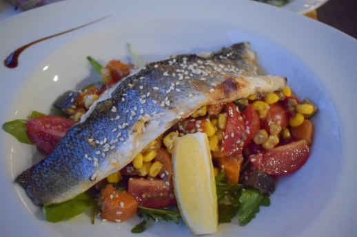 Another preparation of seabass with vegetables