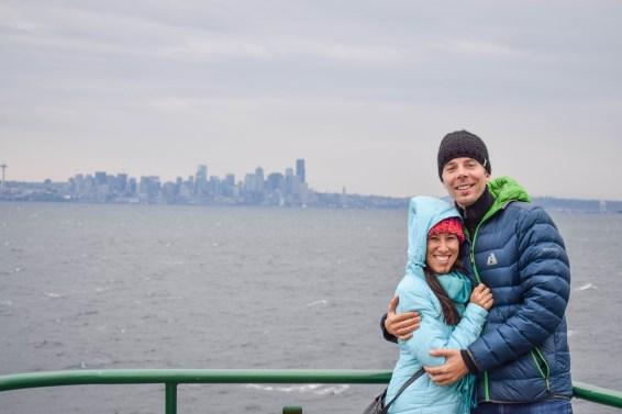 On the ferry to Bainbridge Island, Washington State