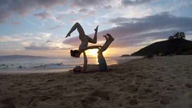 Makena Beach Acro 1